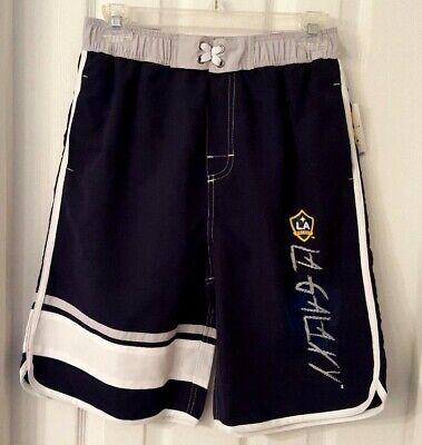 - LA GALAXY Youth Swim Suit Large 14/16 or XL 18 Trunks Color Block Blue 2 Pockets