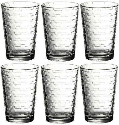 Pasabche Ladrillo Diseño Cristal Vaso Juego Apilables Jugo Agua Gafas Conjunto