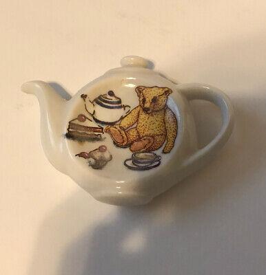 Teabag holder Paul Cardew Classic Ted-tea Teddy Bear Porcelain England
