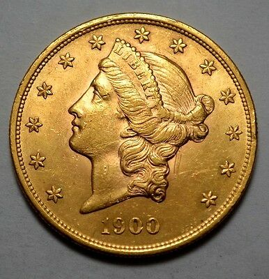 SUPERB UNC 1900 P  LIBERTY HEAD  $20 TWENTY DOLLAR GOLD US COIN