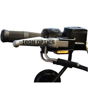 IRON OPTICS LED Blinker + Blinkerhalter für Lenkerarmaturen Harley Davidson
