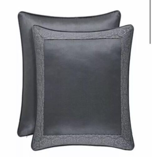 J. Queen New York Rigoletto Euro Pillow Sham European 25×25 NIP Charcoal Bedding
