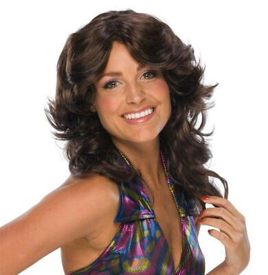 Deja Vu Retro Disco Hippie 70s Feathered Brown - 70s Disco Wig