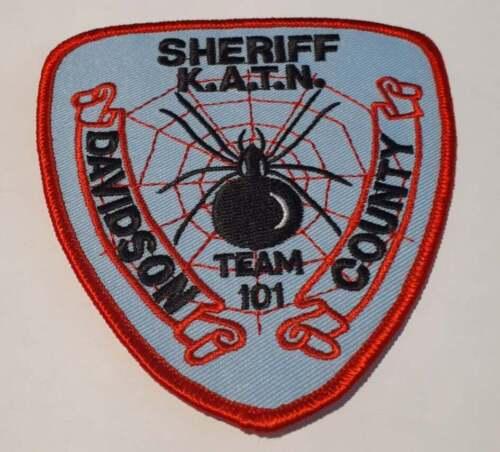 Davidson County KATN North Carolina NC US Police Patch Vintage