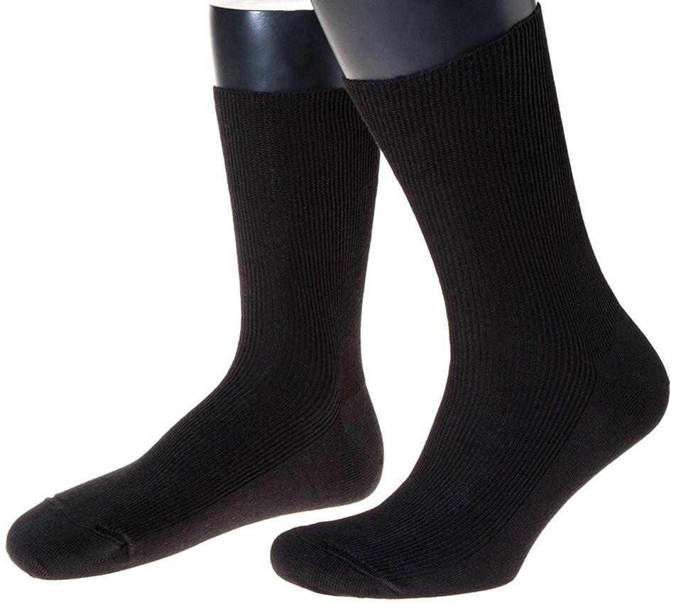 3 Paar Damen, Herren-Socken, Made in Germany, 100% Schurwolle fein gerippt