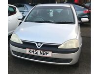 2002 (51 Plate) 1.0 Corsa - Perfect first time drivers car