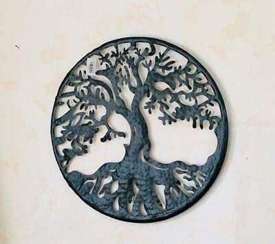 Antik-finish Wand (XXL Metall Wandornament antik finish Baum 55cm innen+aussen)