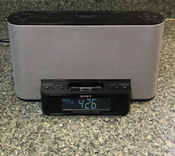 Sony Model ICF-CS10iP Alarm Clock AM/FM /Radio w/ iPod/iPhone Dock Tested.
