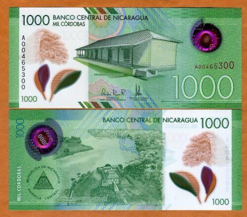 Nicaragua, 1000 cordobas, 2017 (2019), P-New, POLYMER New Design, UNC