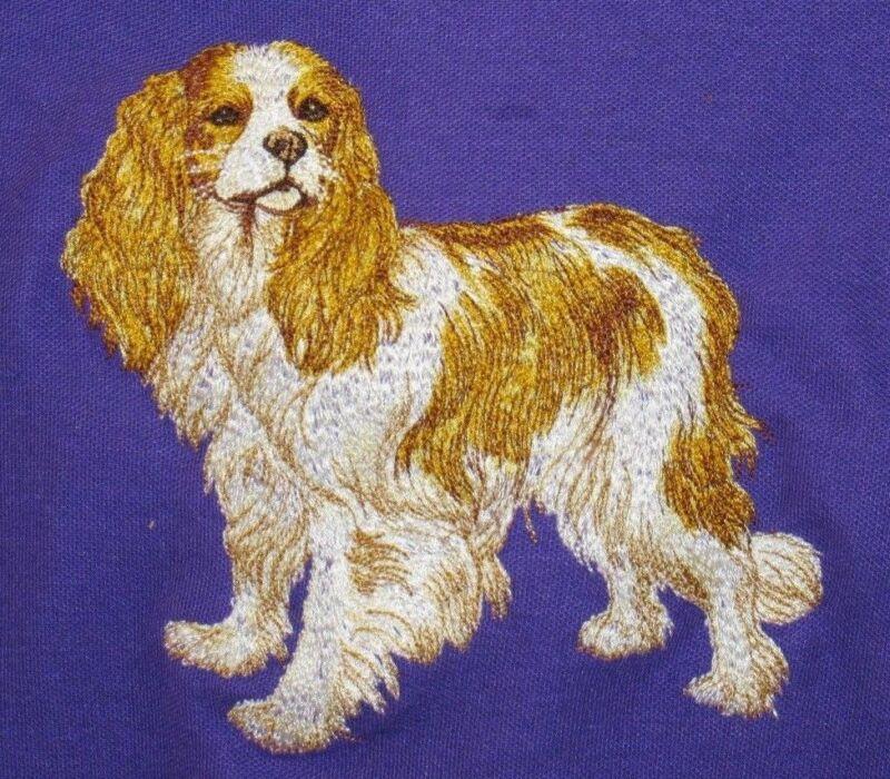 Embroidered Fleece Jacket - Cavalier King Charles Spaniel DTL007