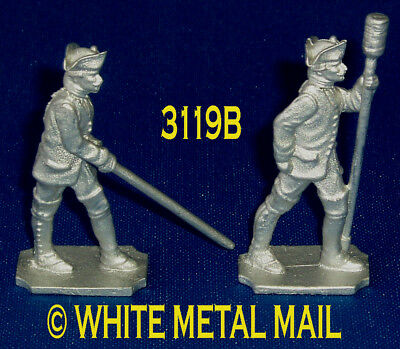 PRUSSIAN 40mm Casting Set 3119B 7 Years War Artillery Aligner and Crewman Ramrod