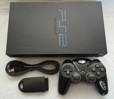 SONY PLAYSTATION PS2 FAT CONSOLE  WITH WIRELESS CONTROLLER **CLEAN AND TESTED**