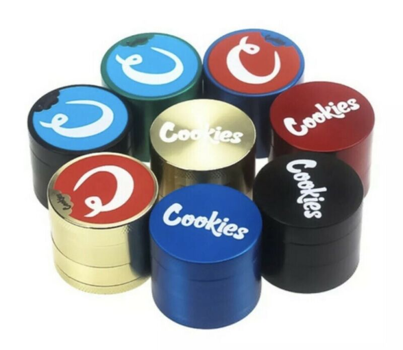 "1.57"" Cookies Grinder Tobacco, Hemp, Spice, Magnetic, 4 Piece W/ Scooper"
