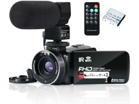 NEW Video Camera Camcorder WiFi IR Night Vision FHD 1080P 30FPS 24MP 3.0'' screen