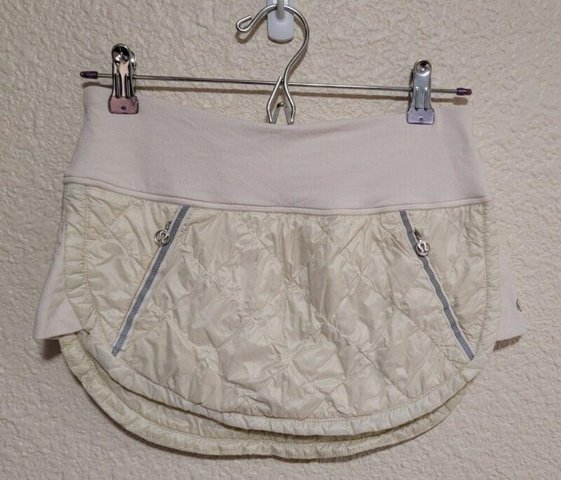 Lululemon Sz 4 Hot Cheeks Skirt Cream White