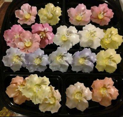 12 GUM PASTE BRIAR ROSES Choose your Color(s) Decorate Your Own Cakes & Cupcakes](Rose Cupcakes)