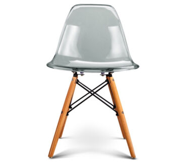 DSW Eiffel Chair   Clear   Natural Legs  Set of  replica eames dining chair in Perth Region  WA   Dining Chairs  . Eames Saarinen Replica Organic Chair Perth. Home Design Ideas