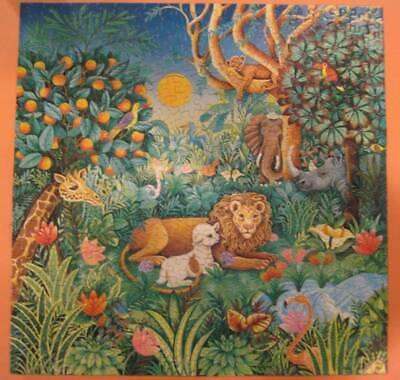 Vintage Springbok The Peacable Kingdom Jungle 500 pcs Puzzle Complete