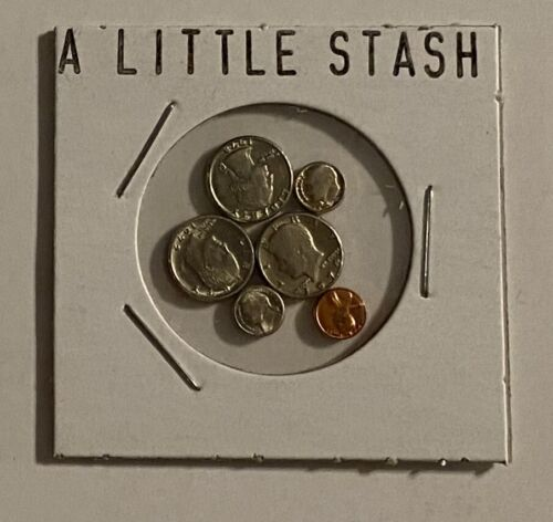 """A LITTLE STASH"" - MINI U.S. COINS SET IN HOLDER"
