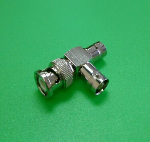 (1 PC) BNC Male to BNC 2 Female Connector