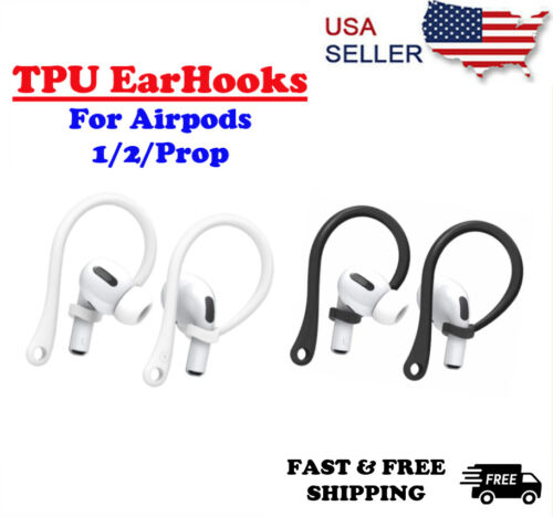 For AirPods 1/2 Pro TPU Silicone Ear Hooks Sports Anti-lost Ear Hook US Cell Phone Accessories