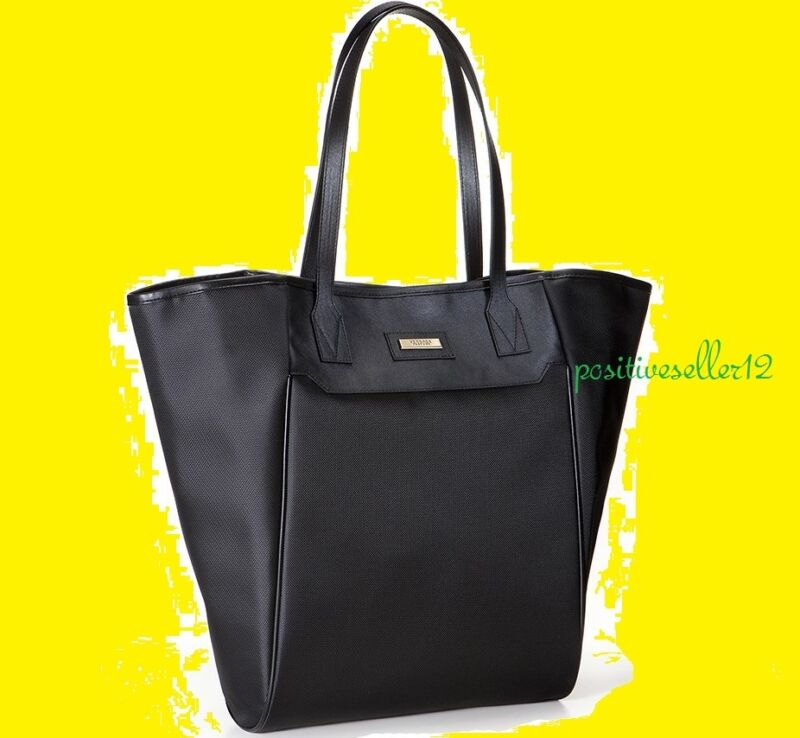 Versace Parfums Black Hand TOTE dust bag women faux leather trim gold