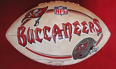 RONDE BARBER Autographed Full Size TAMAP BAY NFL FOOTBALL Barber Autographed Nfl Football