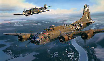 A Higher Call Art Print B-17 BF-109 Franz Stigler Charlie Brown Adam Makos