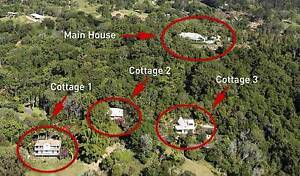 Noosa's Private Mountain Executive Home with 3 Cottages + Income Cooroy Noosa Area Preview