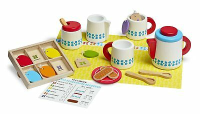 Melissa & Doug Steep and Serve Tea Set Wooden Toy Play Set
