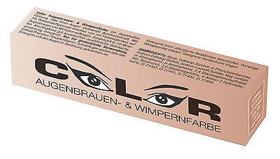 Augenbrauenfarbe Wimpernfarbe COLOR Komplett Set Friseur Farbe Wimpern NEU