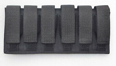 Six /6  Magazine Pouch - 9MM / 40 S&W / 45 ACP Double Stacked Magazines 6 Mag Pouch