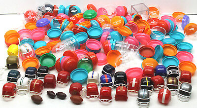 2 Lb Lot Mini Football Helmet Cases Plastic Gumball Party Favors+Footballs by AA (Mini Football Helmets Party Favors)