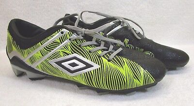 0166d0db1933 Men's Umbro Yellow Black Soccer Cleats Size 7.5 Shoes Training Sports  Football