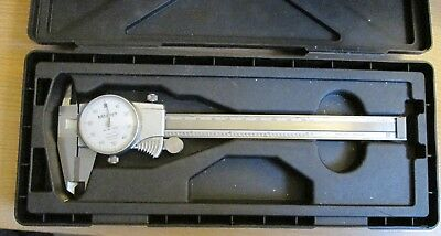 Mitutoyo 505-712 Dial Caliper 0-6 In Hard Carrying Case