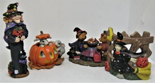 4 Piece Ceramic Halloween lot.