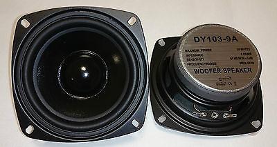 "2x Dynavox 4"" 10cm 100mm Bass Lautsprecher Tieftöner DY-103 4Ohm PAAR"