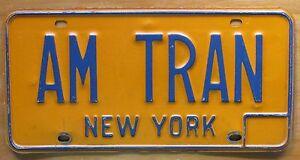 New York 1980 VANITY License Plate AM TRAN