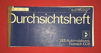 Durchsichtsheft VEB Automobilwerk Eisenach 1980 WARTBURG 353 W   ( F12779