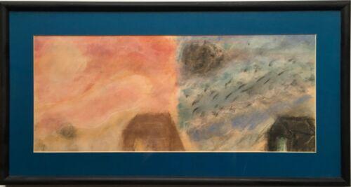 Fine Expressionist Oil Pastel Drawing Night Day Landscape Dana Albertson Grade 3