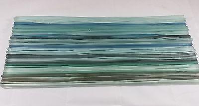 "Artistic Glass Tile frost multi color column/slab 9"" x 21"""