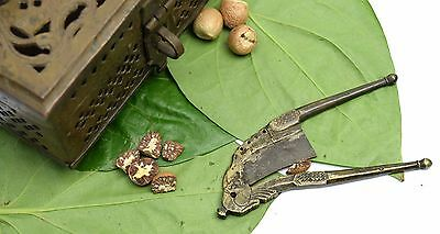 Rare antique beautiful brass betel nut cutter hand crafted home décor. i12-68