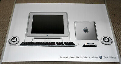 "Genuine 36"" by 24"" Apple Power Mac G4 Cube Poster L05449A -- New Old Stock for sale  Bend"