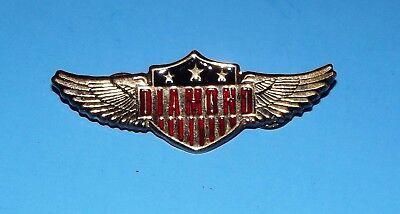 "Neil Diamond Concert 1992 Eagle Wings & Stars Metal  2.5"" Pin Pinback Brooch"