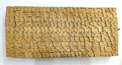 Vintage Letterpress Woodwooden Printing Type Block Typography 150 Pc 9mmlb131