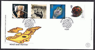 Mind and Matter 2000 First Day Cover - SG2162 to SG2165 Norwich Cancel
