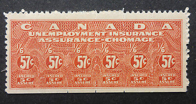 Canada Unemployment 57 Cent Stamp Nh   Fu8