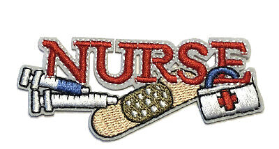 Nurse Band Aid Embroidered Patch Iron/Sew-On Applique Medical RN Clinic EMT