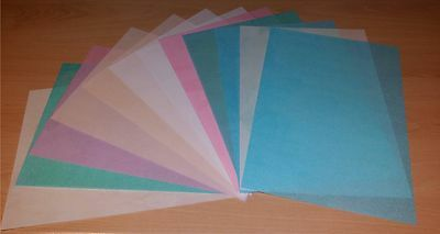 12 sheets of A4 edible wafer paper (rice paper) in mixed colours & white