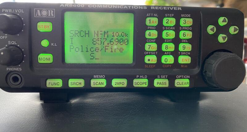 AOR AR8600 MKII Desktop Communications Receiver With Original Box, Manual, Adap